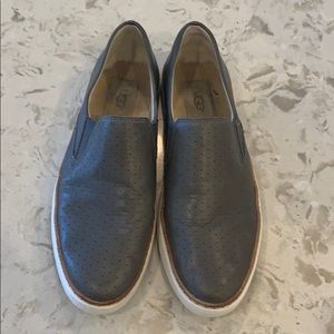 UGG Leather Slip On Shoes